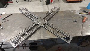 Custom welding fabrication projects that are still in progress